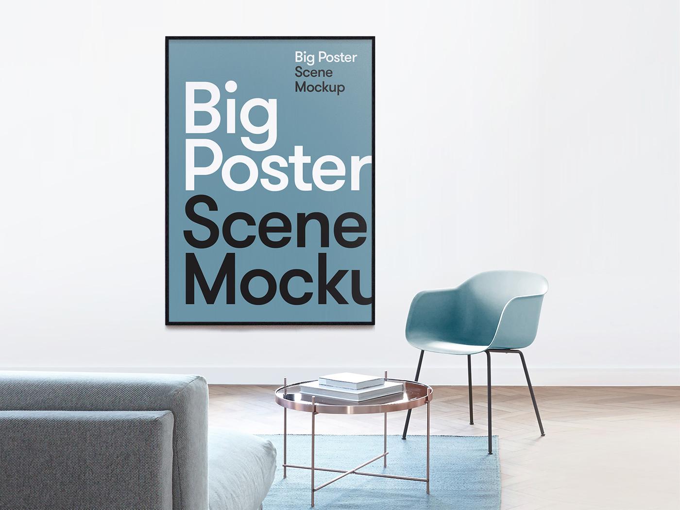 Big Poster Scene Mockup